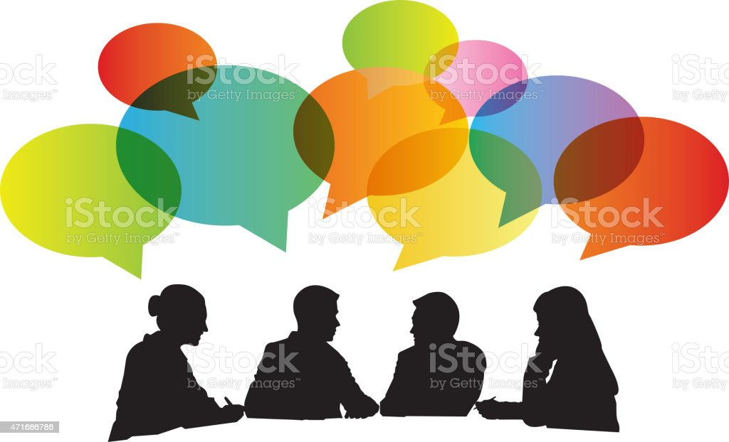 Royalty Free Group Discussion Clip Art Vector Images