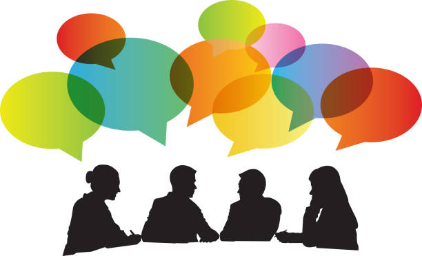 Best Group Discussion Illustrations, Royalty-Free Vector ...