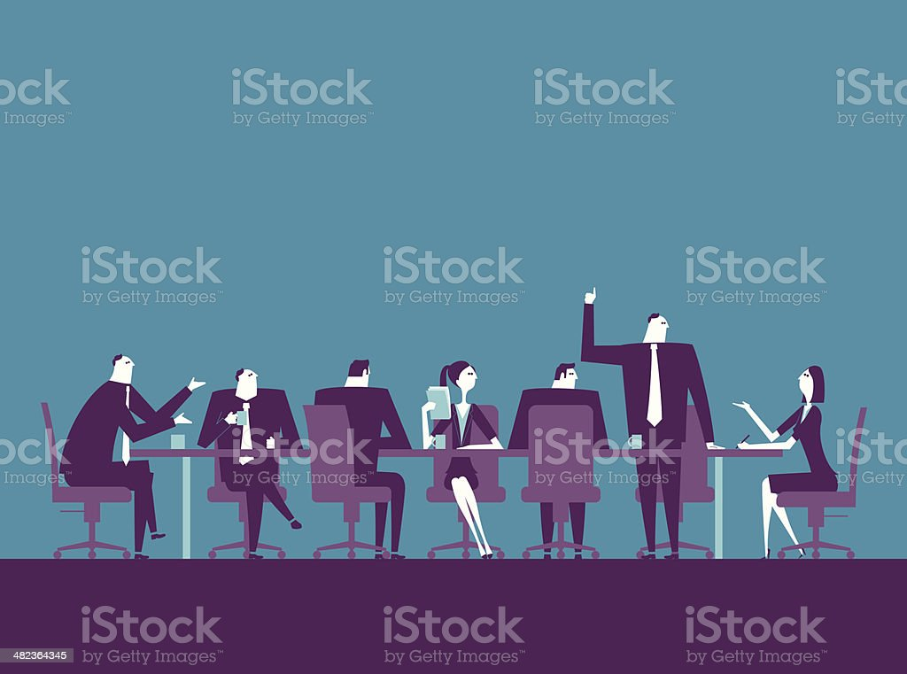 Meeting royalty-free meeting stock vector art & more images of adult