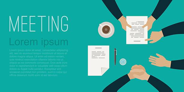meeting - lesestrategien stock-grafiken, -clipart, -cartoons und -symbole