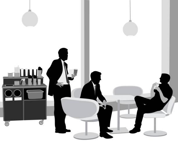 MeetingPotentialClientsCafe – Vektorgrafik