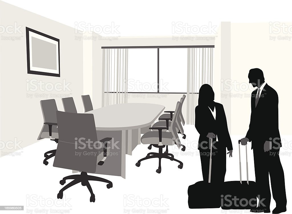 Meetings Vector Silhouette royalty-free stock vector art
