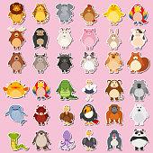 Mega animal sticker pack