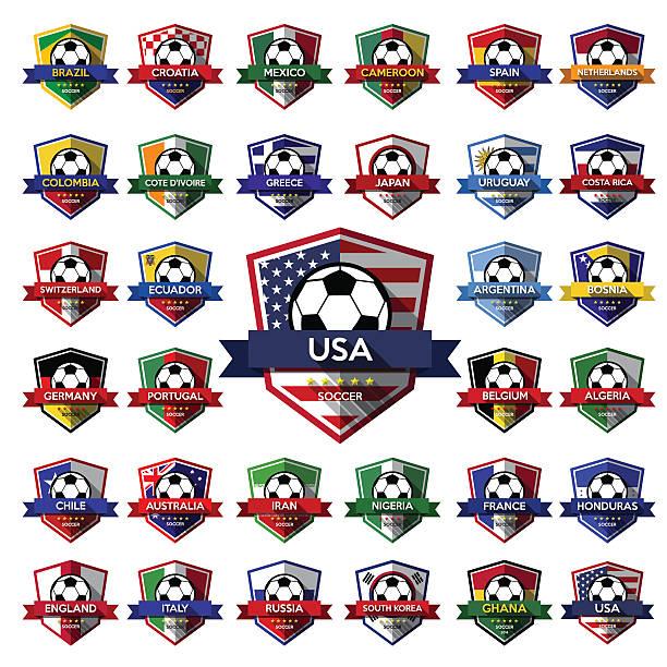 Mega colección de fútbol fútbol) Tarjeta ( - ilustración de arte vectorial