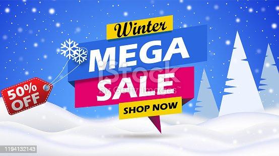 istock Mega Sale Banner 1194132143