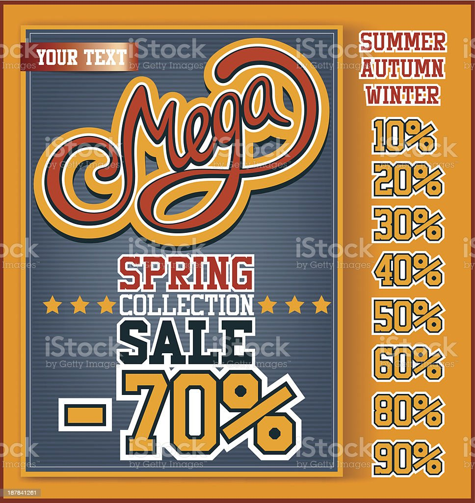 Mega Sale collection royalty-free stock vector art