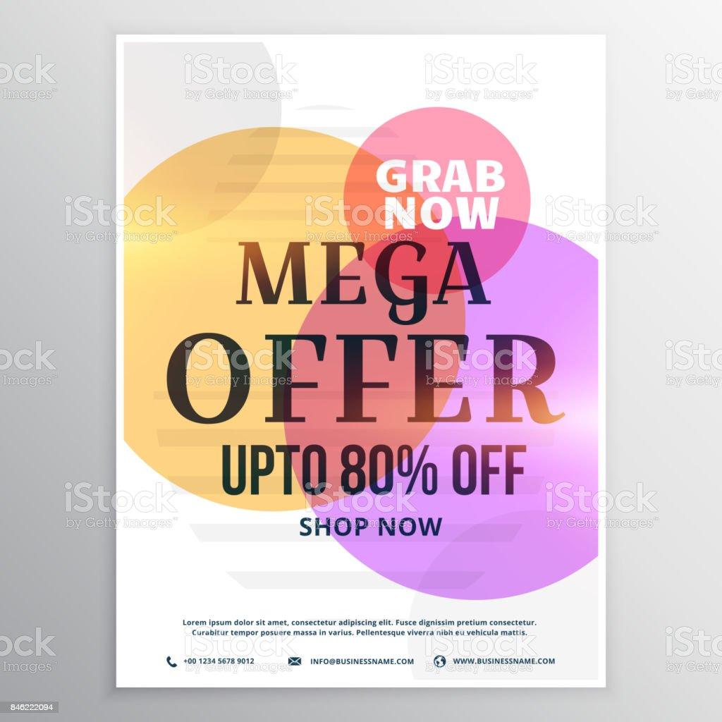 Mega Sale Discount Voucher Design Template Stock Vector Art More