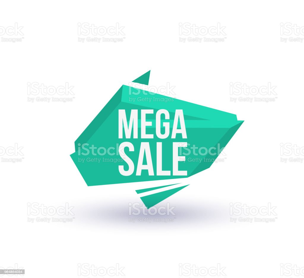 Mega sale isolated trendy geometric label royalty-free mega sale isolated trendy geometric label stock vector art & more images of advertisement