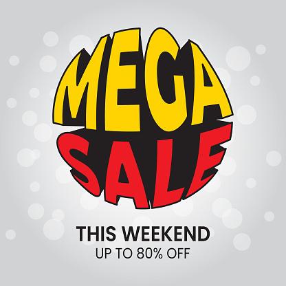 mega sale. special offer big sale special offer Vector illustration