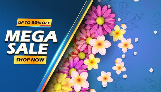 Mega Sale spring Banner