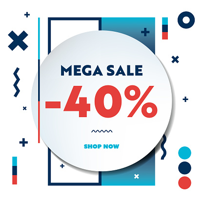 Mega Sale Web Banner Template