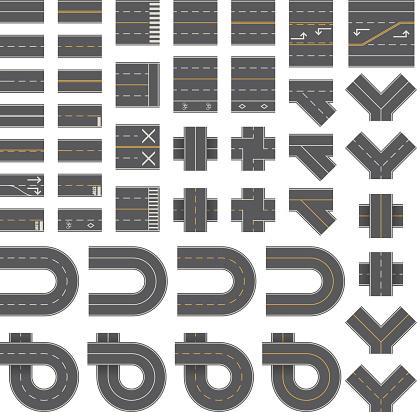 Mega Seamless Road Construction Kit - Overhead Perspective