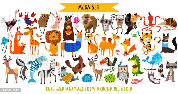 Mega set of cute cartoon animals wild animals marina animalsvector vector id1128503326?b=1&k=6&m=1128503326&s=612x612&h=leqbtmhfpn btzjipjhmlubwudoxe9wwvx8defidl60=