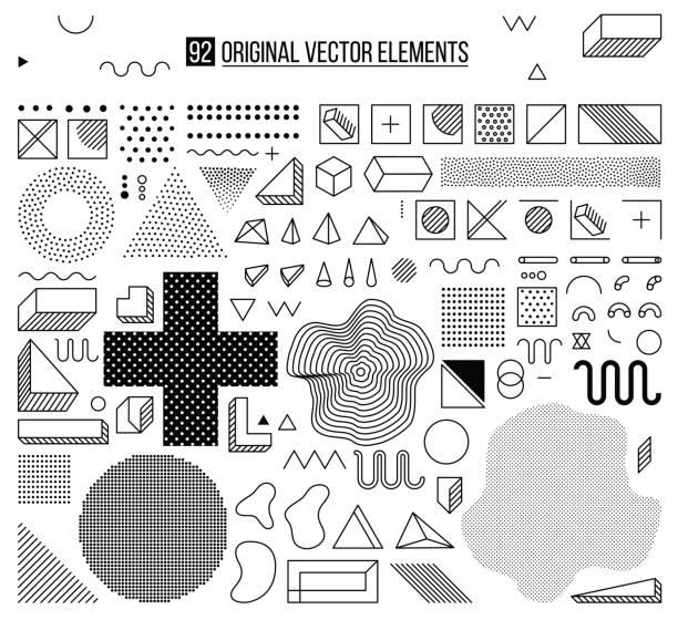Mega-Set von Designelementen, Vorlage für Ihr Projekt – Vektorgrafik