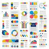 Mega set of infographics elements charts, graphs, circle charts, diagrams,