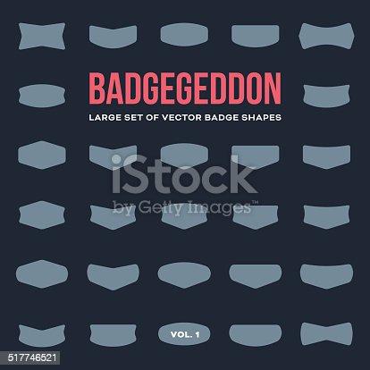 istock Mega set of vintage badge shapes and logo elements 517746521