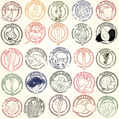 Mega Vegetable Stamp Collection