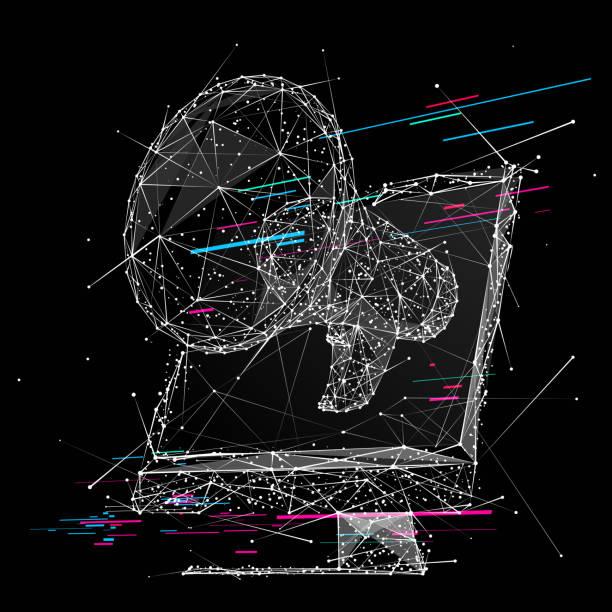 Megaphon und Monitor LP WB – Vektorgrafik