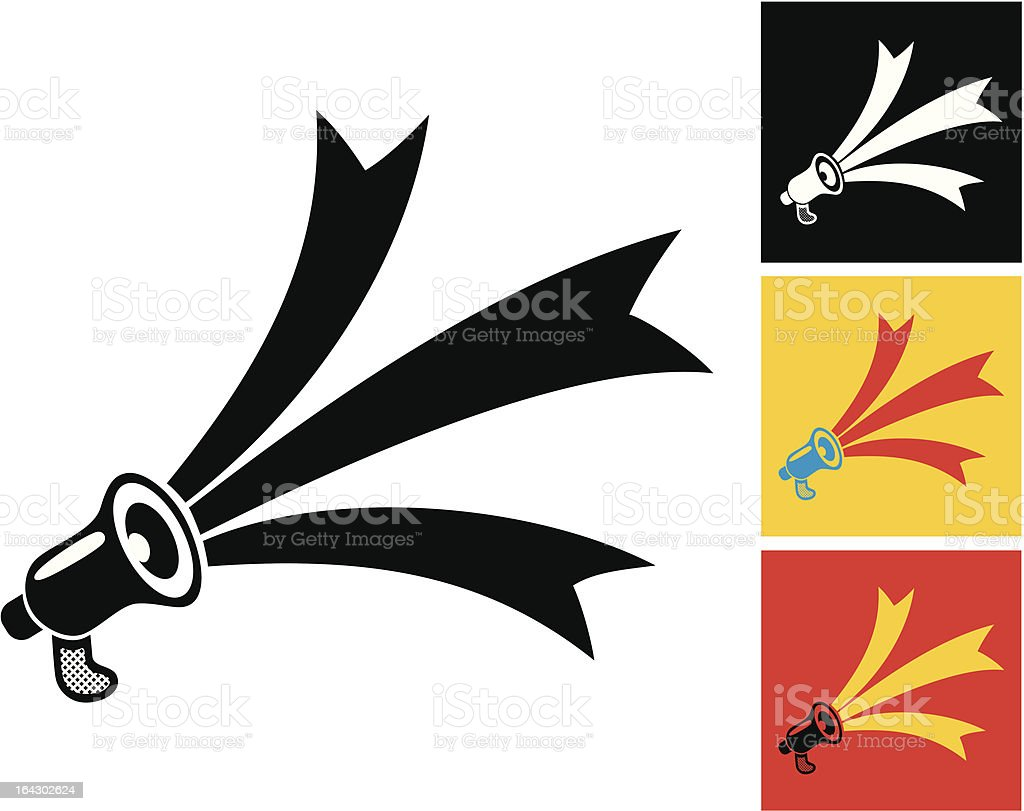 megaphone and ribbons royalty-free megaphone and ribbons stock vector art & more images of abstract