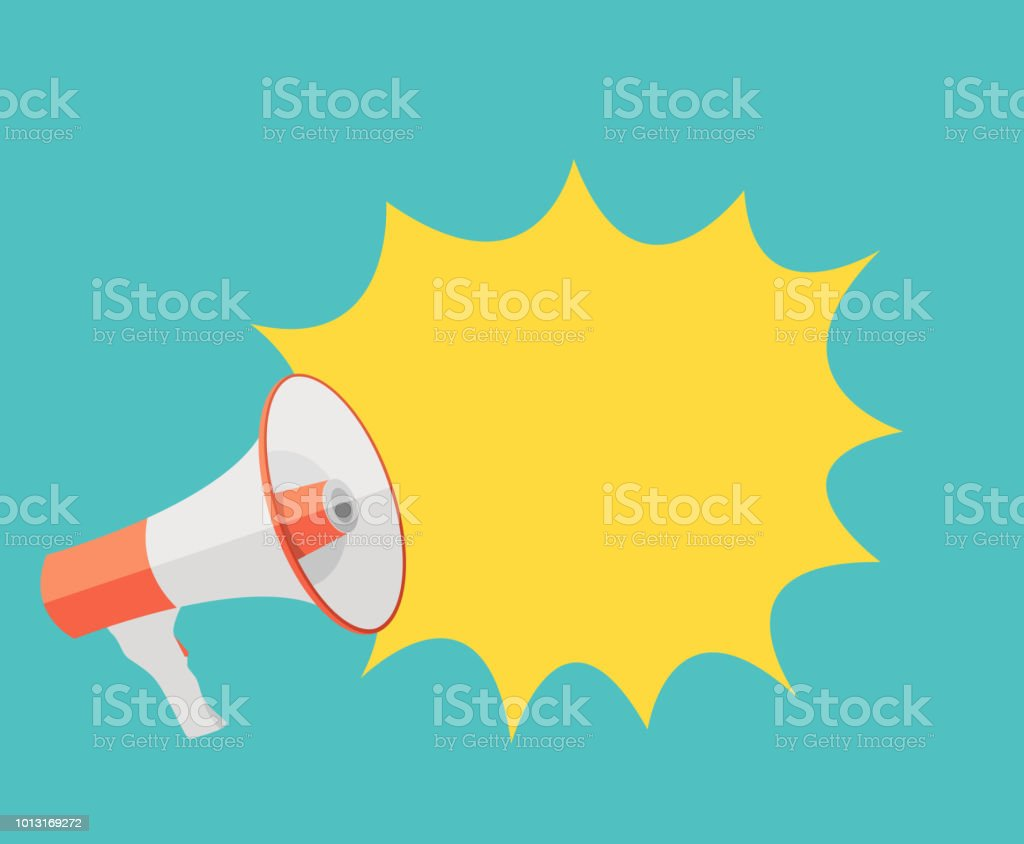 Megaphone and Speech Bubble Vector Illustration EPS10