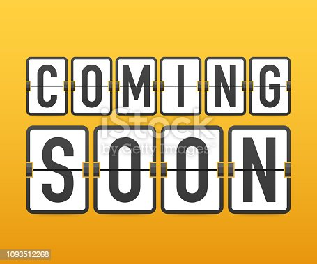 843847560istockphoto Megaphone Hand, business concept with text coming soon. Vector illustration 1093512268