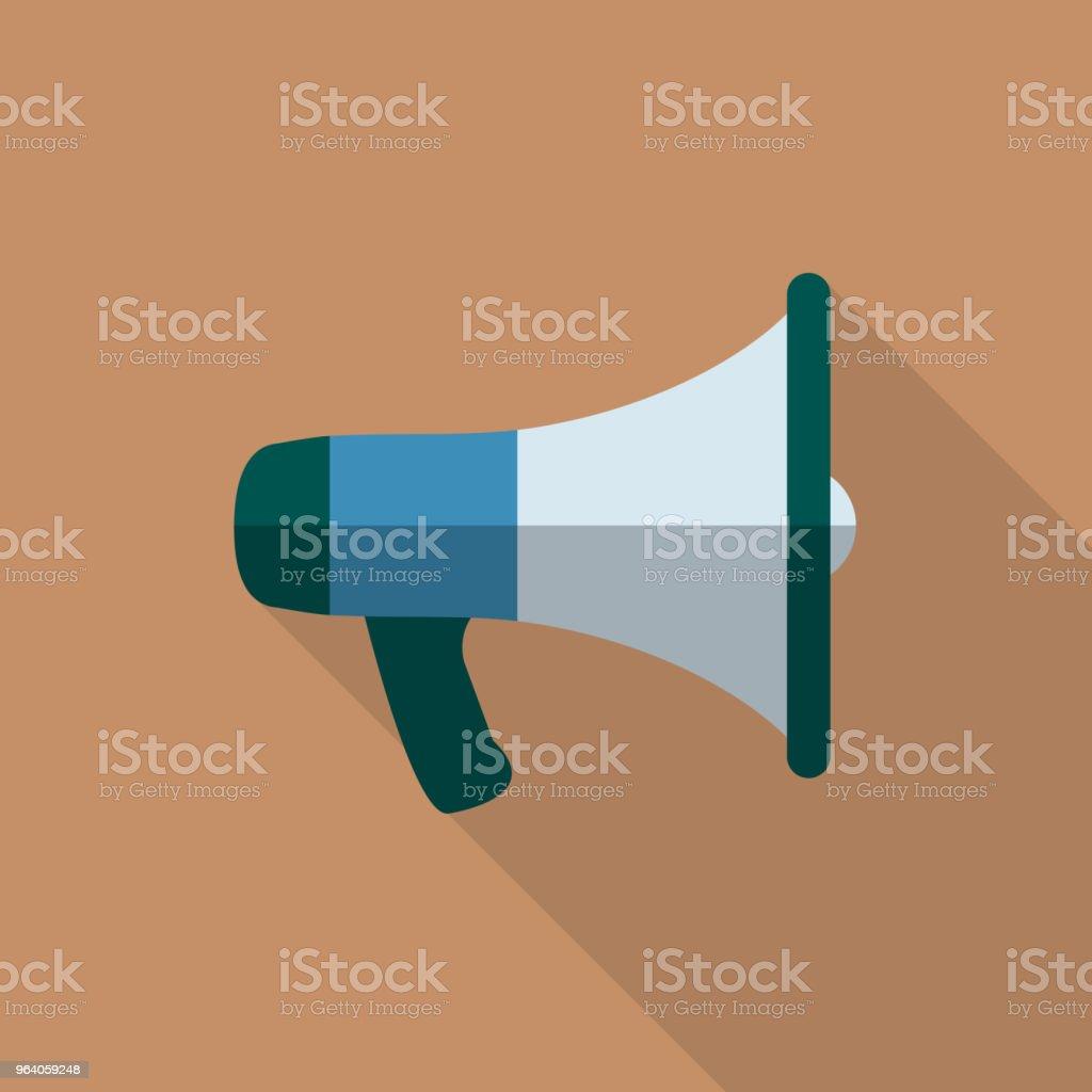 メガホン アイコン フラットなデザイン - アイコンのロイヤリティフリーベクトルアート