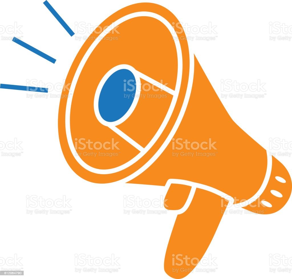 royalty free megaphone bullhorn vector icon isolated speaking rh istockphoto com cheer megaphone clipart free