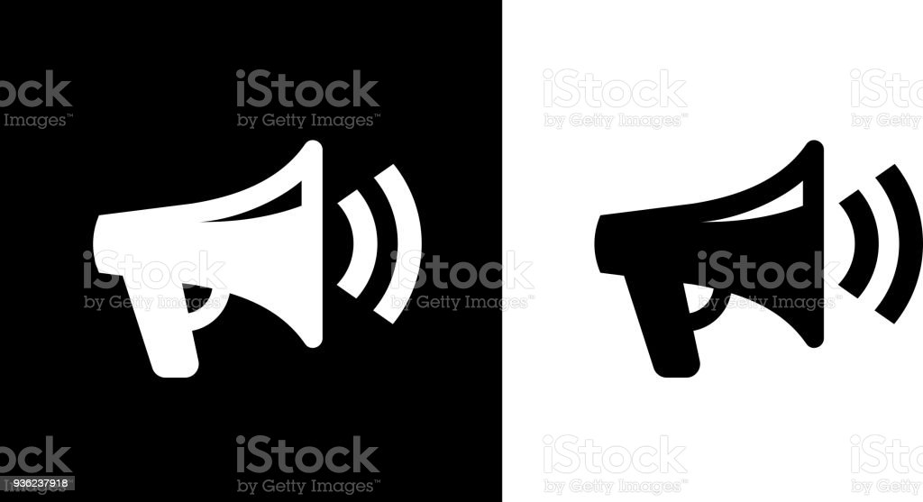 Megaphone Icon vector art illustration