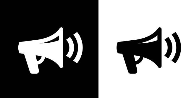bildbanksillustrationer, clip art samt tecknat material och ikoner med megaphone-ikonen - speaker