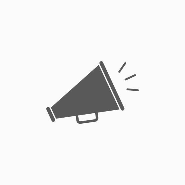 megaphone icon megaphone icon announcement message stock illustrations