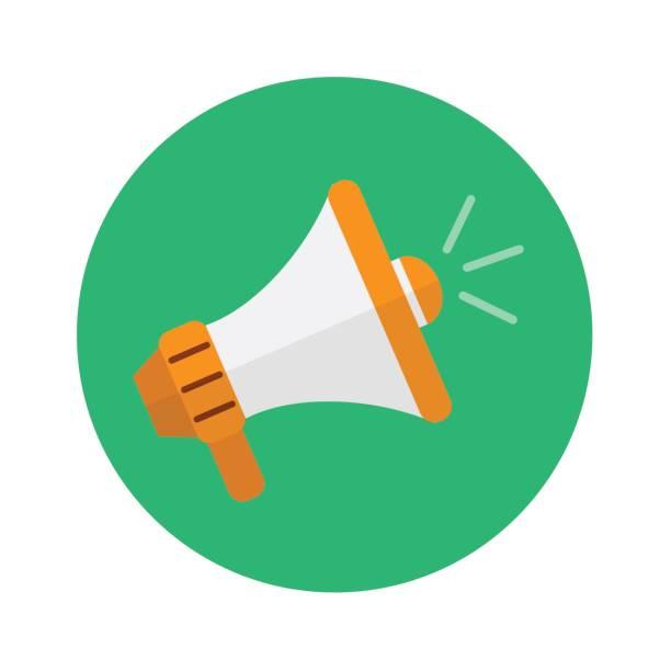 megaphon-symbol. vektor-illustration. geschäfts- und marketing-design-konzept. - megaphone stock-grafiken, -clipart, -cartoons und -symbole