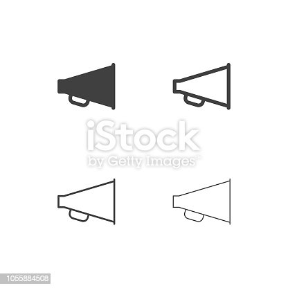Megaphone Icons Multi Series Vector EPS File.