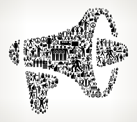 Megaphone Protest And Civil Rights Vector Icon Background Stock Illustration - Download Image Now
