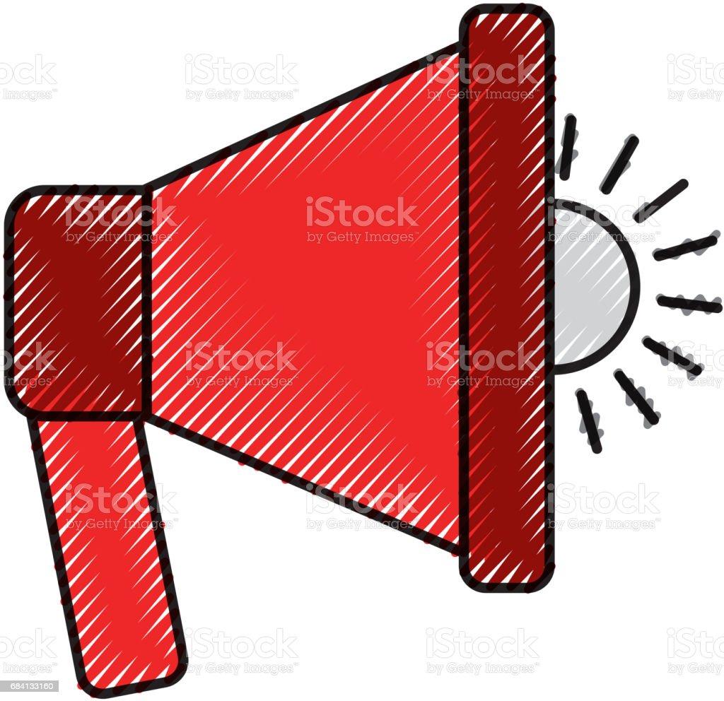 megaphone sound isolated icon megaphone sound isolated icon - immagini vettoriali stock e altre immagini di allerta royalty-free