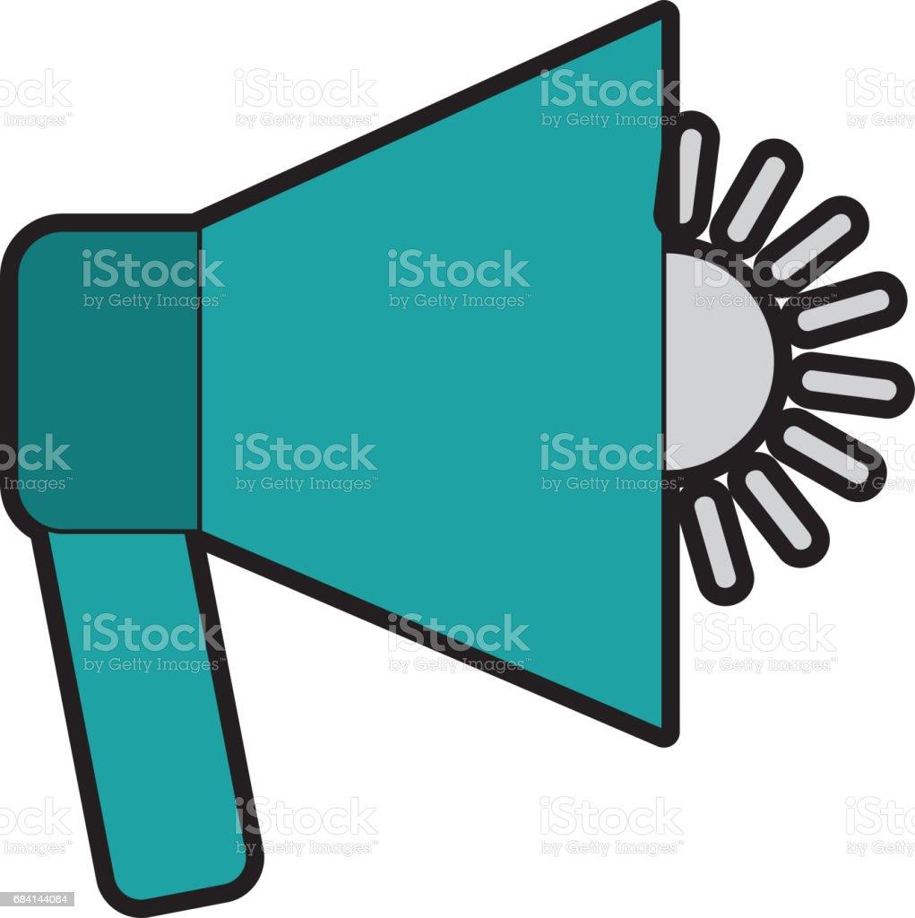 megaphone ljud isolerat ikonen royaltyfri megaphone ljud isolerat ikonen-vektorgrafik och fler bilder på audioutrustning