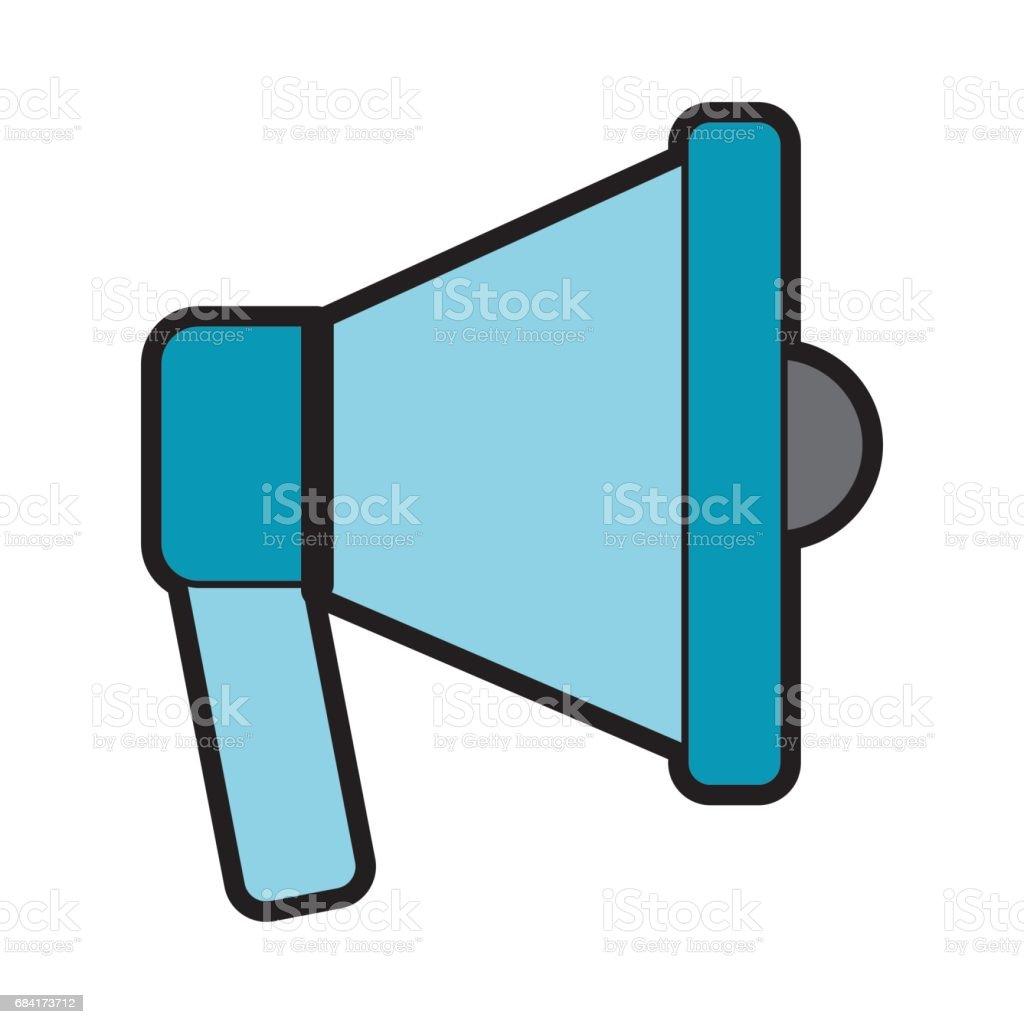 icono del megáfono sonido aislado ilustración de icono del megáfono sonido aislado y más banco de imágenes de alerta libre de derechos