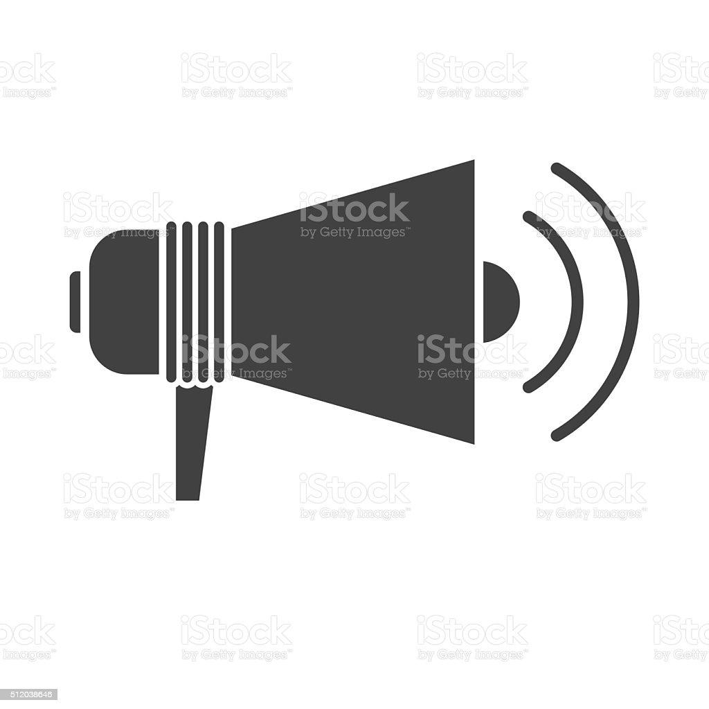 Megaphone Speaker Outline Icon Stock Vector Art & More Images of ...