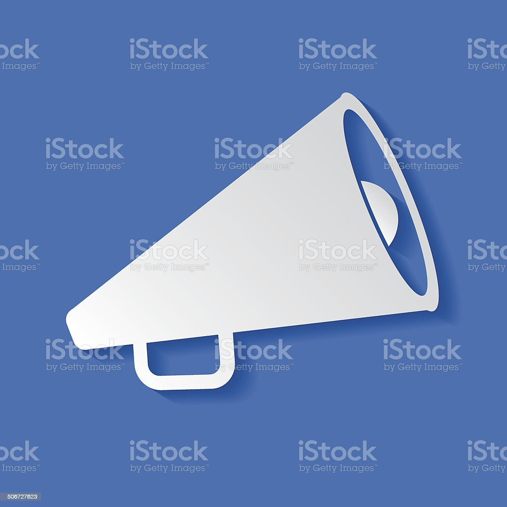 Megaphone symbol,clean vector vector art illustration