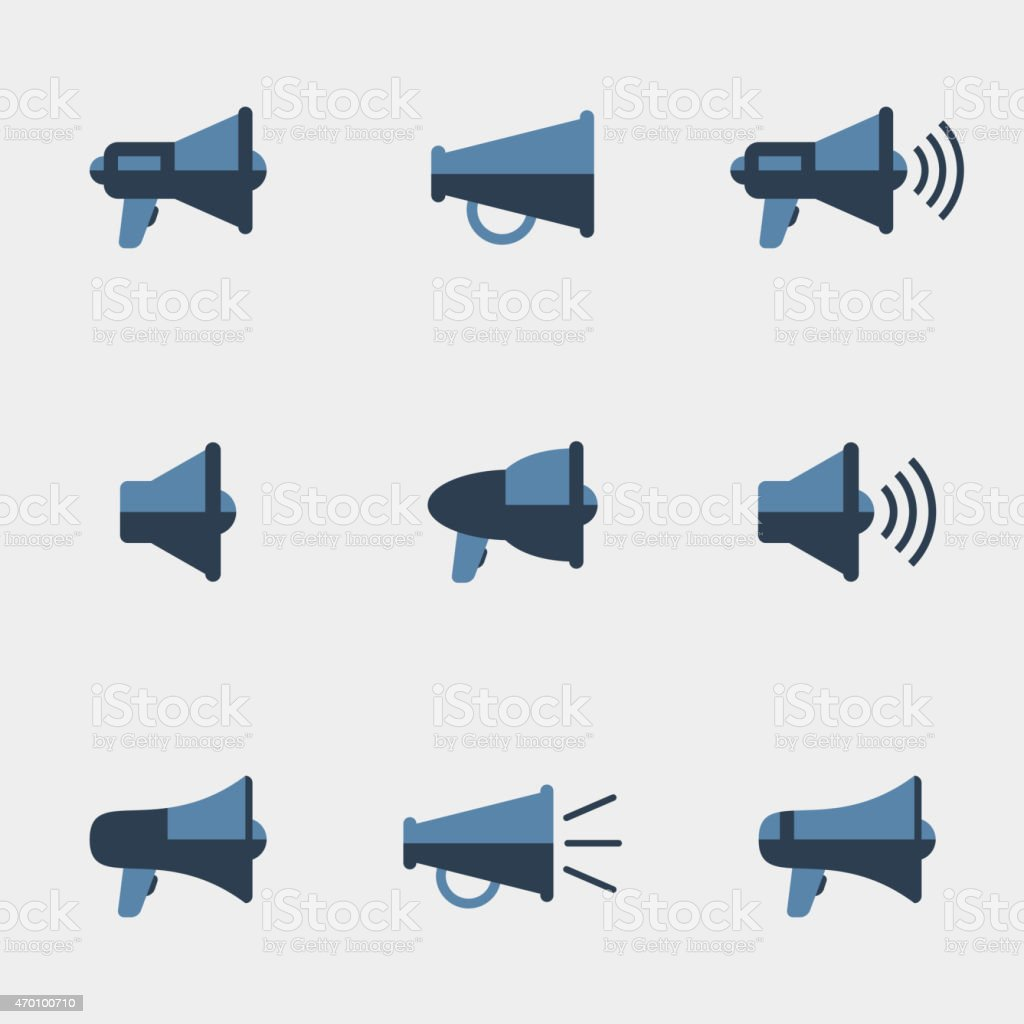 Megaphone vector icons vector art illustration