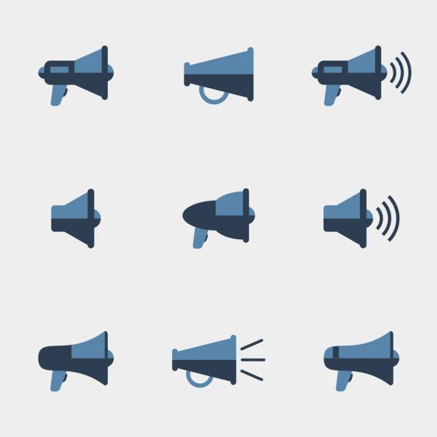 Megafon Vektor-icons – Vektorgrafik