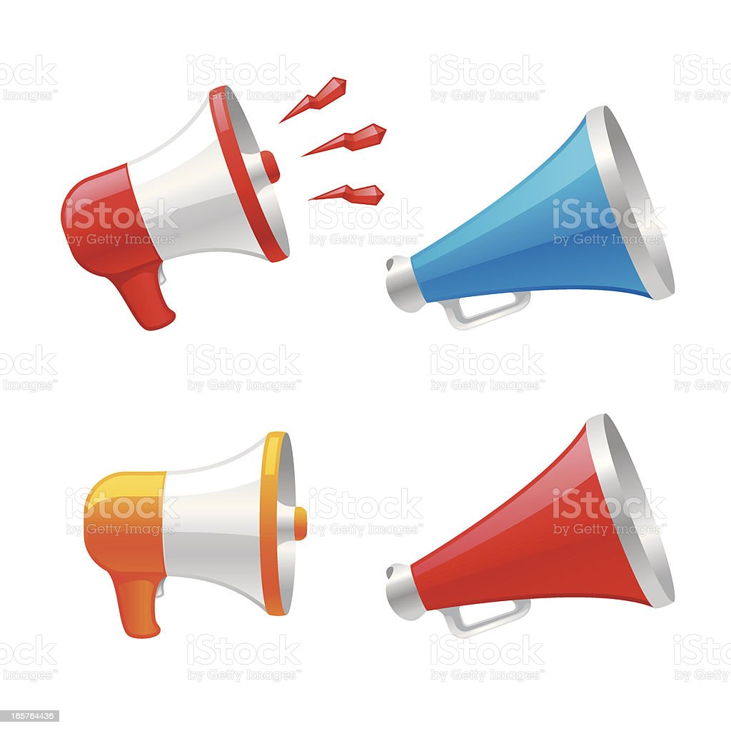 Megaphone royalty-free megaphone stock vector art & more images of announcement message