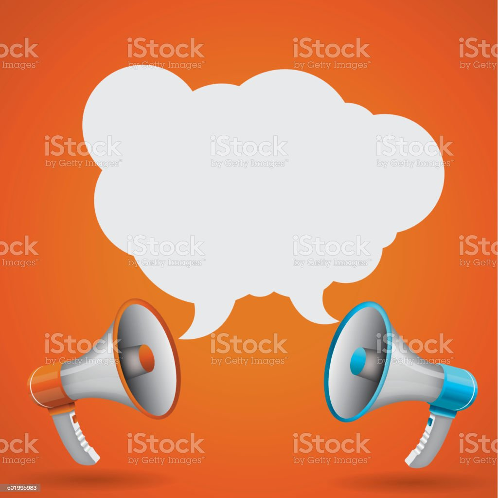 Megaphone with speech bubble royalty-free megaphone with speech bubble stock vector art & more images of announcement message