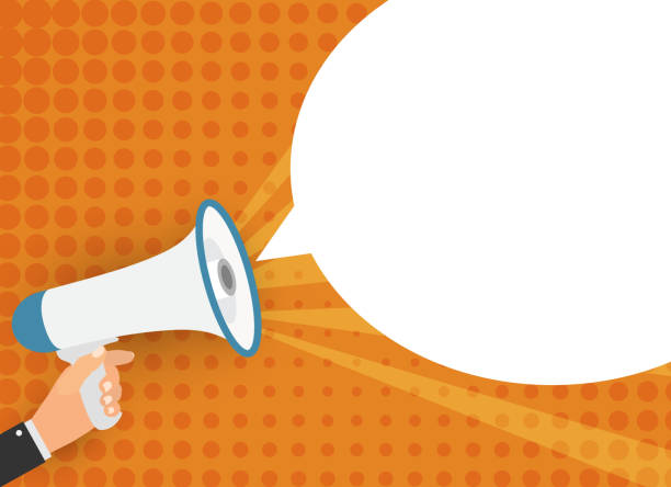 Megaphone with speech bubble. Vector Illustration Megaphone with speech bubble. Vector Illustration. EPS10 announcement message stock illustrations