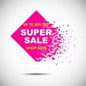 Sale banner background. Big sale, last, final sale. Best offer. Black Friday Sale. Offer, promo, logo, poster, flyer, price tag, label, special offer. Vector graphic. EPS 10