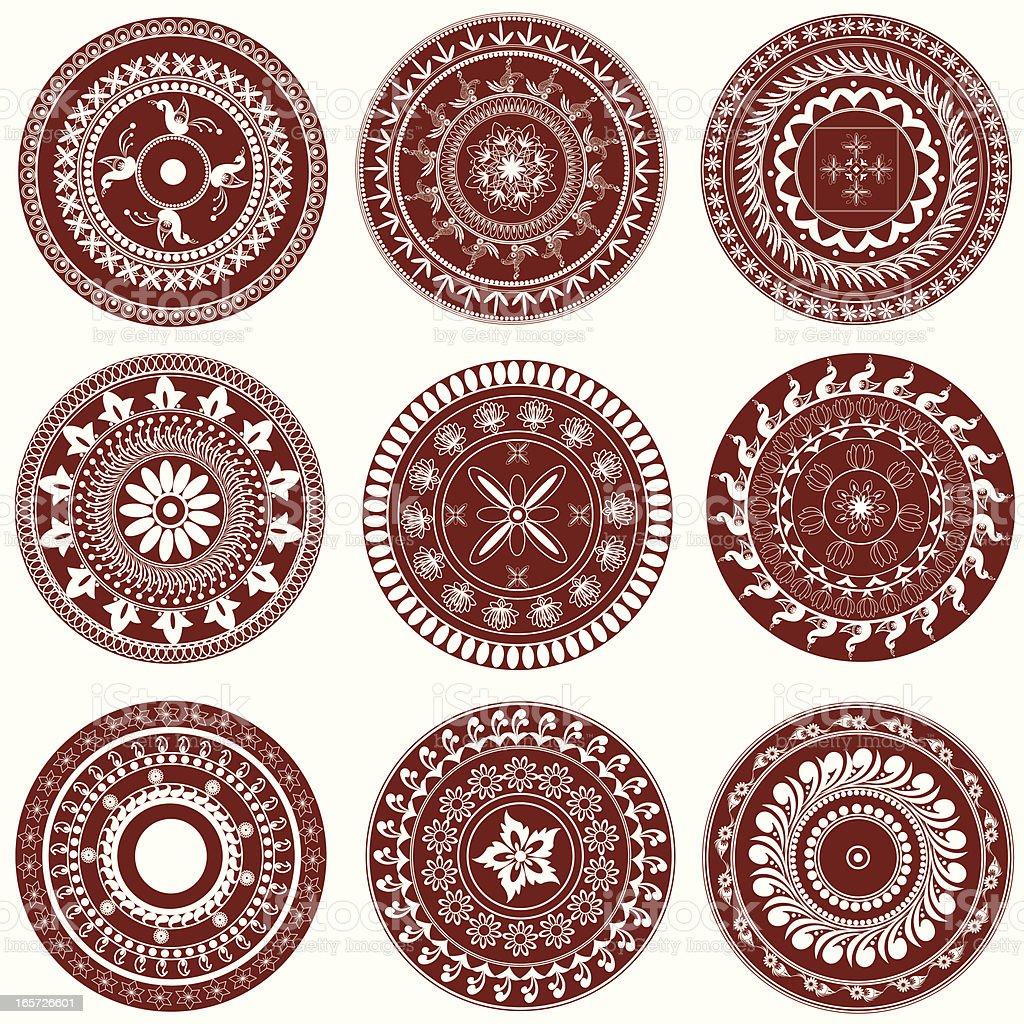 Mehandi Circle Design royalty-free stock vector art