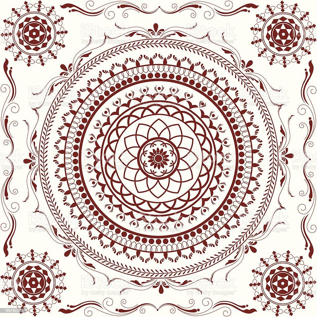Mehandi Circle Design royalty-free mehandi circle design stock vector art & more images of backgrounds