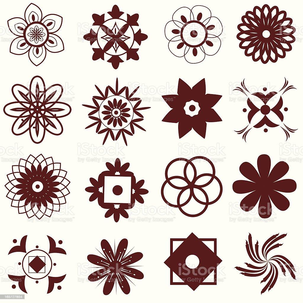 Mehandi Design Elements. royalty-free stock vector art