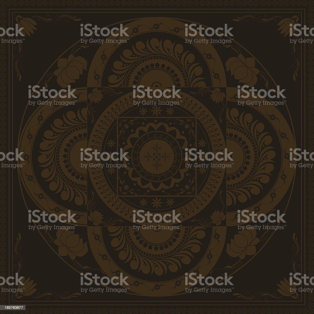 Mehandi Mandala Design royalty-free stock vector art