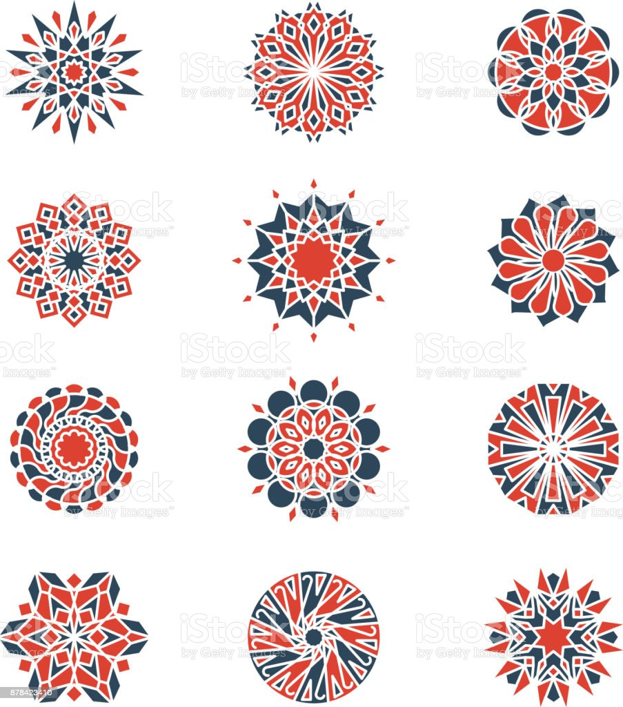 Mehendi And Arabic Circular Patterns Geometric Logo Design In ...