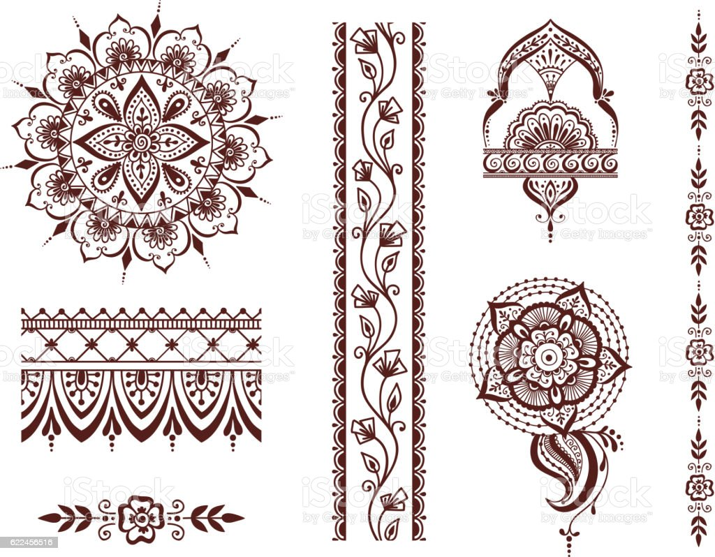 Mehendi pattern illustration vector art illustration
